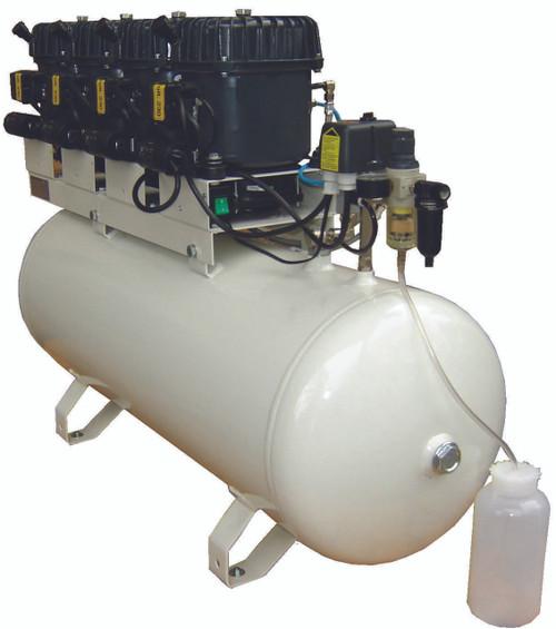 Val-Air 200-100 AL 4 x 1/2 HP 8.6 CFM 230 Volt Single Phase 26 Gallon Silent Air Compressor by Silentaire Technologies