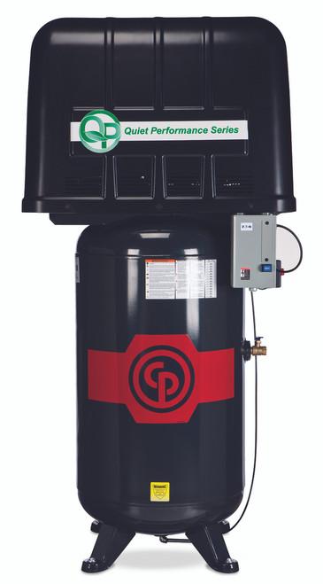 Chicago Pneumatic RCP-7583VQP 7.5 HP 208-230 Volt Three Phase Quiet Power 80 Gallon Air Compressor