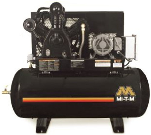 Mi-T-M AES-23315-120HM 15 HP 230 Volt Three Phase Two Stage 120 Gallon Air Compressor