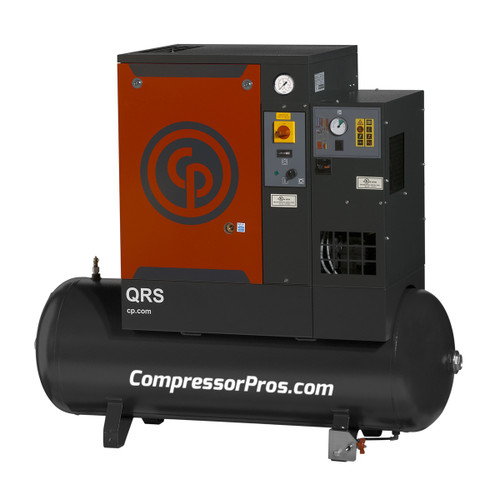 Chicago Pneumatic QRS7.5HPD-3 7.5 HP Three Phase Rotary Screw Air Compressor with Dryer
