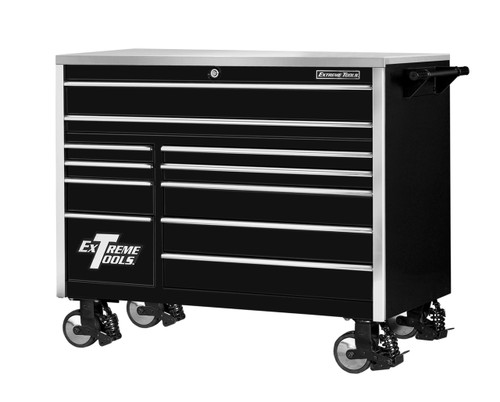 """Extreme Tools EX5511RCBK 55"""" 11 Drawer Rooler Cabinet Tool Box"""