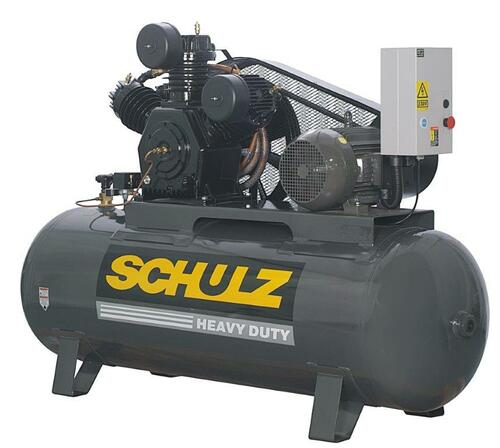 Schulz 15120HW60X-3 15 HP 208-230 Volt 3 Phase 60 CFM 120 Gallon Air Compressor