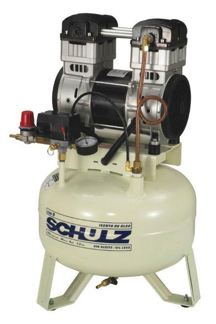 Schulz CSD 9/08 1.5 HP 115 Volt 9 CFM 8 Gallon Oil Free Air Compressor