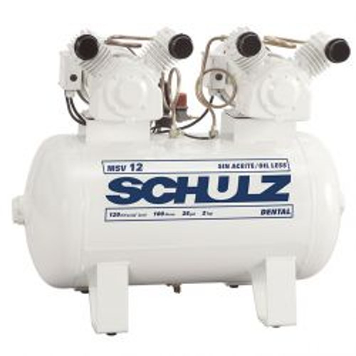 Schulz MSV 12/30 2 x 1 HP 115 Volt 30 Gallon Oil Free Air Compressor