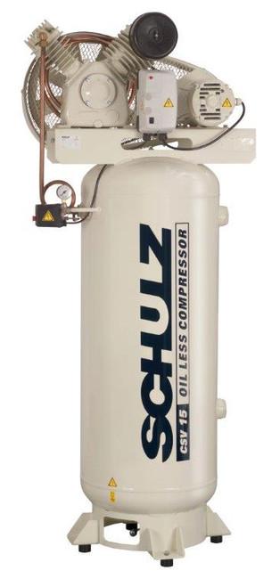 Schulz 360VV15-1 3 HP 230 Volt 15 CFM Oil Free Air Compressor
