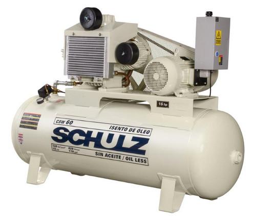 Schulz 15120HW60-3 15 HP Oil Free Air Compressor
