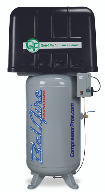 BelAire QP338VE 5 HP 208-230 Volt Three Phase Two Stage 80 Gallon Quiet Power Air Compressor