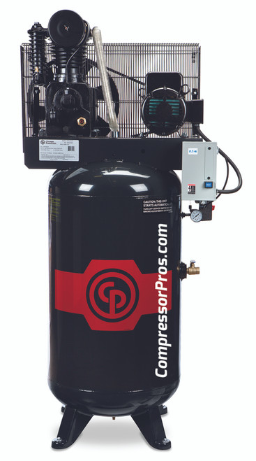 Chicago Pneumatic RCP-C7583V4 7.5 HP 460 Volt Three Phase Two Stage Cast Iron 80 Gallon Full Featured Air Compressor