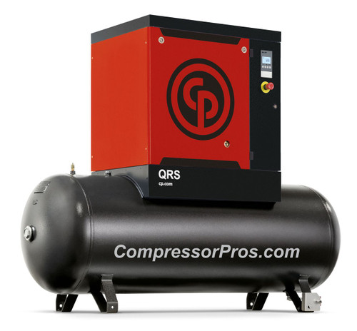 Chicago Pneumatic QRS15HP-125 15 HP 125 psi 132 Gallon Rotary Screw Air Compressor