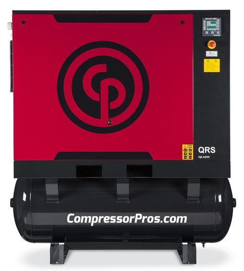 Chicago Pneumatic QRS25HPD 25 HP Tank Mount Rotary Screw Air Compressor with Dryer