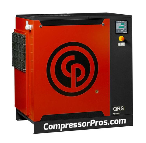Chicago Pneumatic QRS30HPD 30 HP Rotary Screw Base Mount Rotary Screw Air Compressor with Dryer