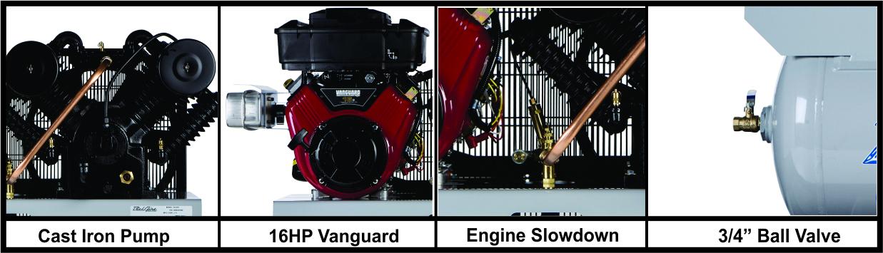 BelAire 6G3HV 16 HP Vanguard 35 CFM Gas Drive 30 Gallon Air Compressor