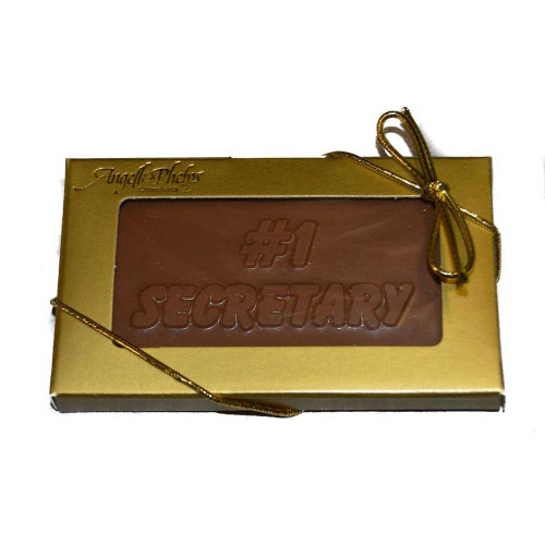 #1 Secretary Chocolate Business Card