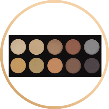 CROWN BRUSH 10 COLOR BROW PALETTE - 10BROW
