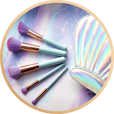 STINAFACE MERMAID CLAM BRUSH SET