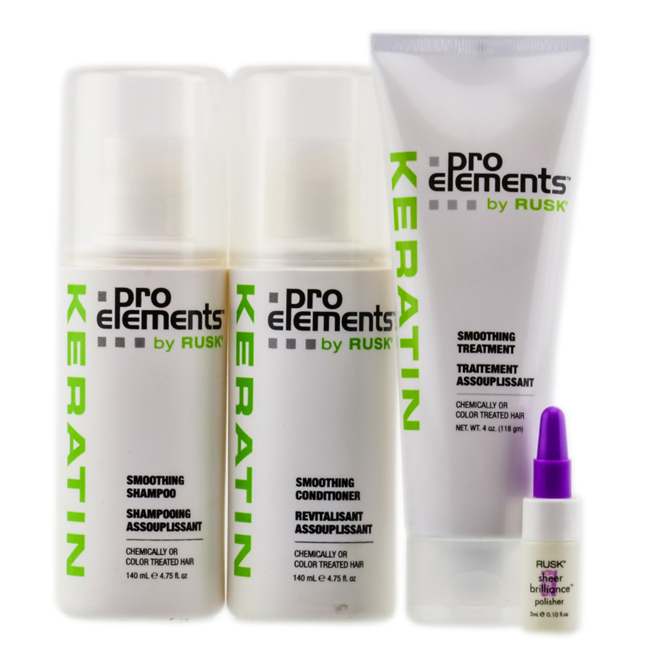 Rusk Keratin Pro Elements Smoothing Treatment Kit Sleekshop