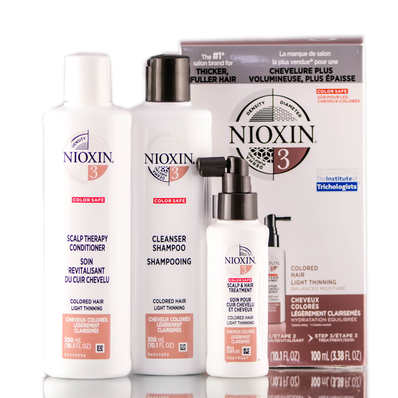 Nioxin System 3 Kit Light Thinning Balanced Moisture For Colored