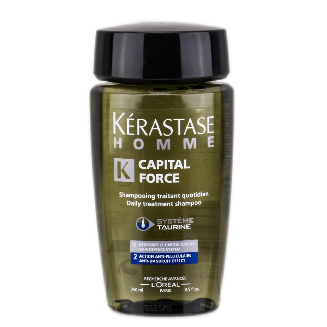 Kerastase homme capital force daily treatment shampoo anti dandruff effect - Kerastase salon treatment ...