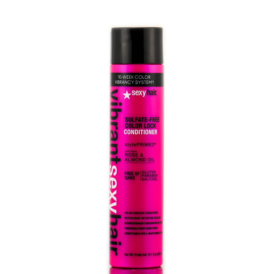 Sexy Hair Vibrant Rose & Almond Oil Sulfate - Free Color Lock Conditioner 646630015214