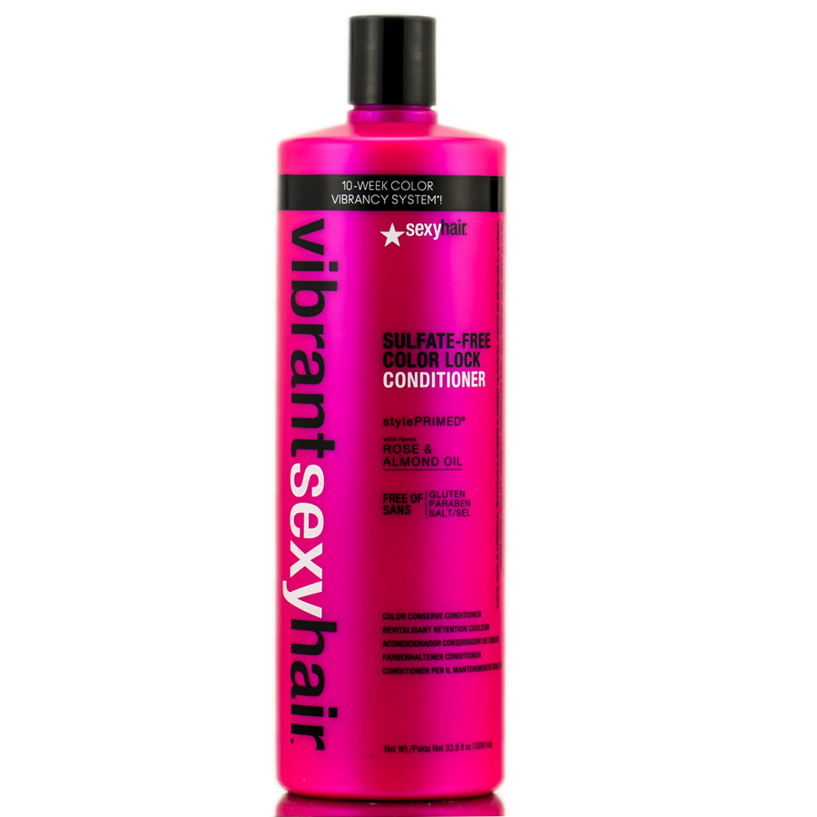 Sexy Hair Vibrant Rose & Almond Oil Sulfate - Free Color Lock Conditioner 646630015221