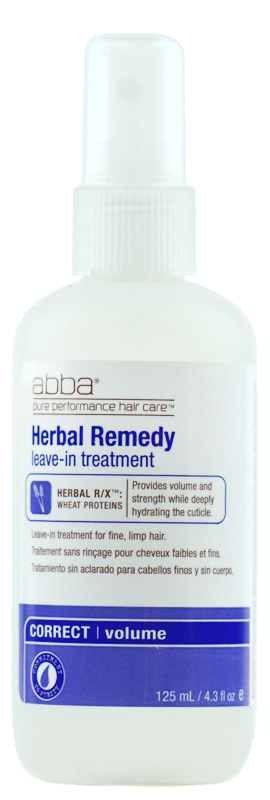 Abba Herbal Remedy Volume Leave-in Treatment for fine, limp hair 618862235029