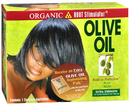 Organic Root Stimulator Olive Oil No-Lye Relaxer - Extra Strength 632169110995