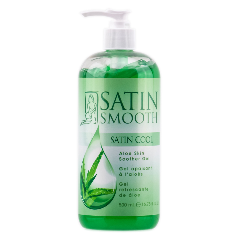 Satin Smooth Satin Cool  Aloe Skin Soother Gel 074108264145