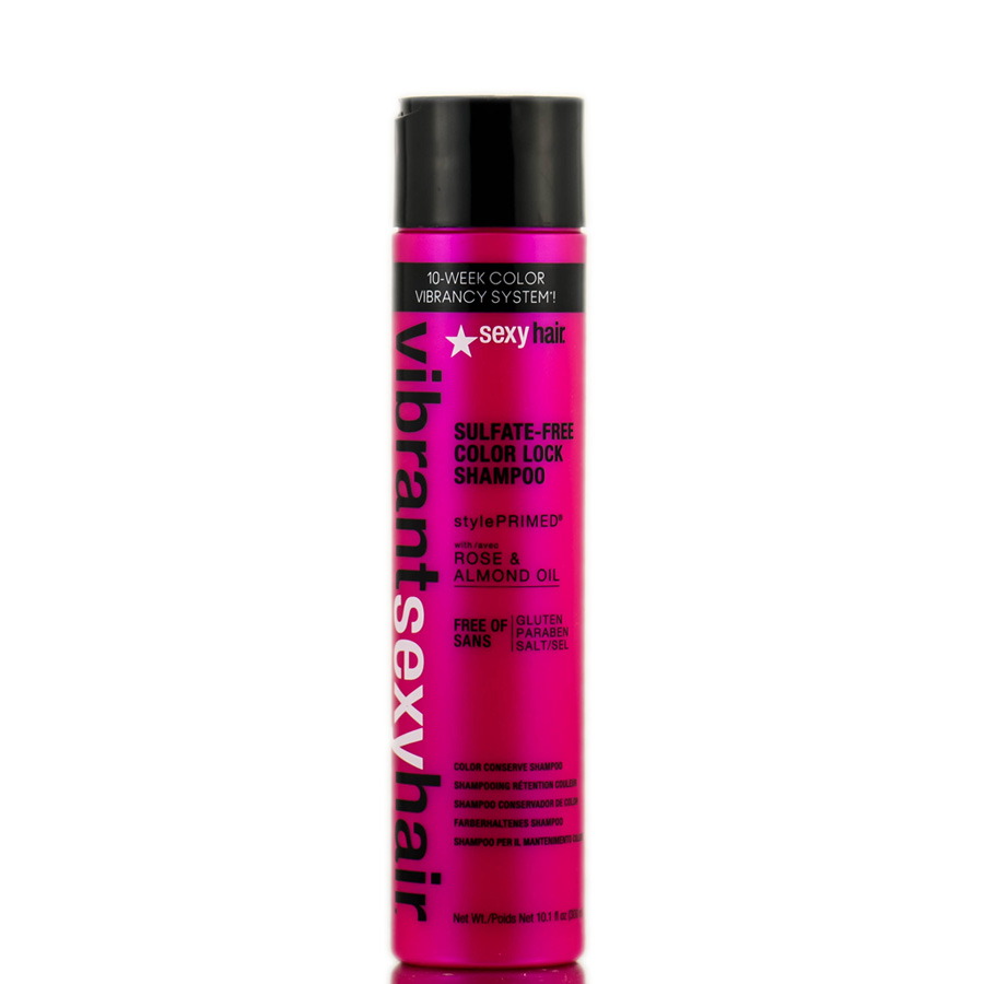 Sexy Hair Vibrant Rose & Almond Oil Sulfate - Free Color Lock Shampoo 646630015184