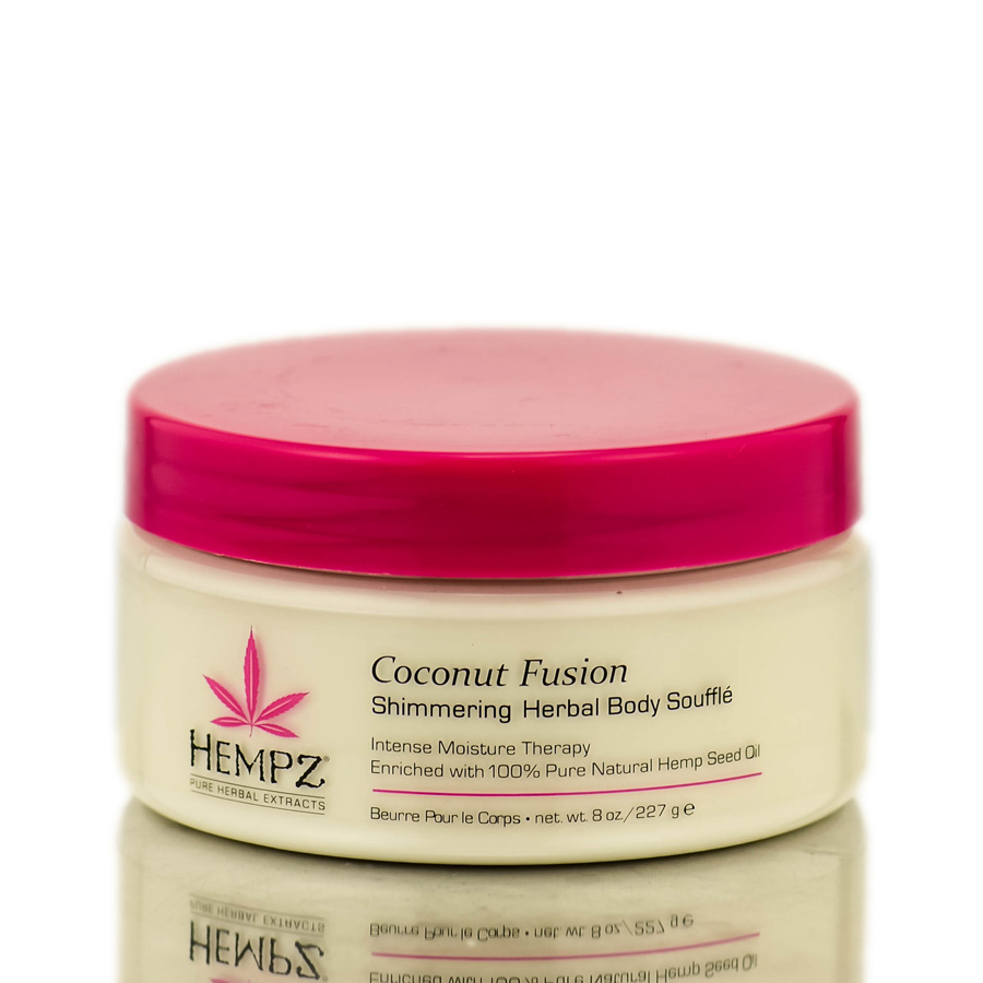 Hempz Coconut Fusion Shimmering Herbal Body Souffle 676280018396