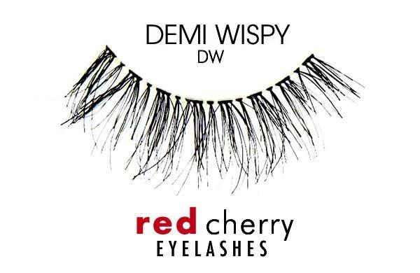 d890d204f85 ... Human Hair 80 False Lashes Natural Looking UPC 019474007255 product  image for Red Cherry Eyelashes Black- Demi Wispy | upcitemdb.com ...