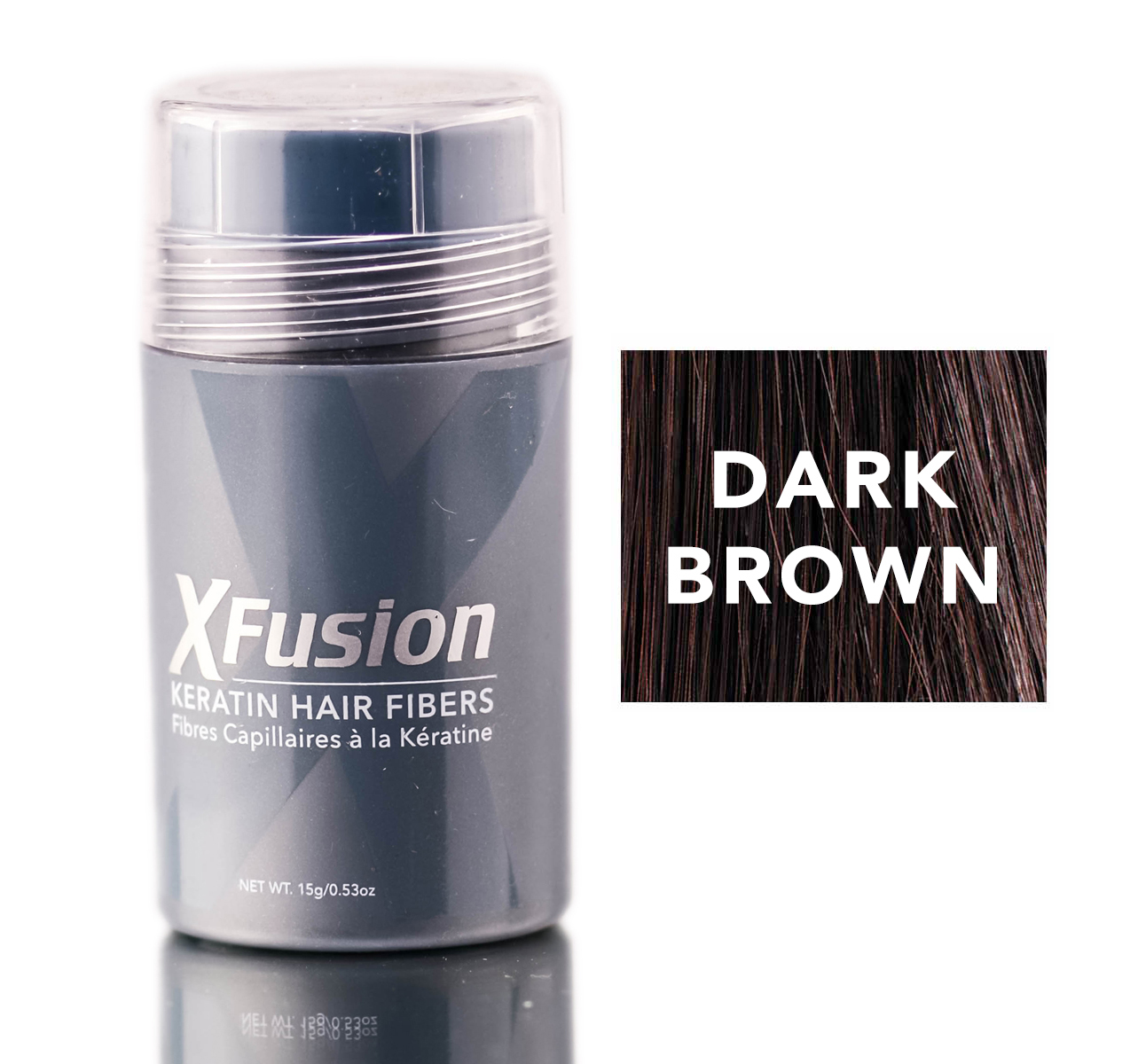 XFusion Dark Brown Keratin Hair Fibers 667820017030