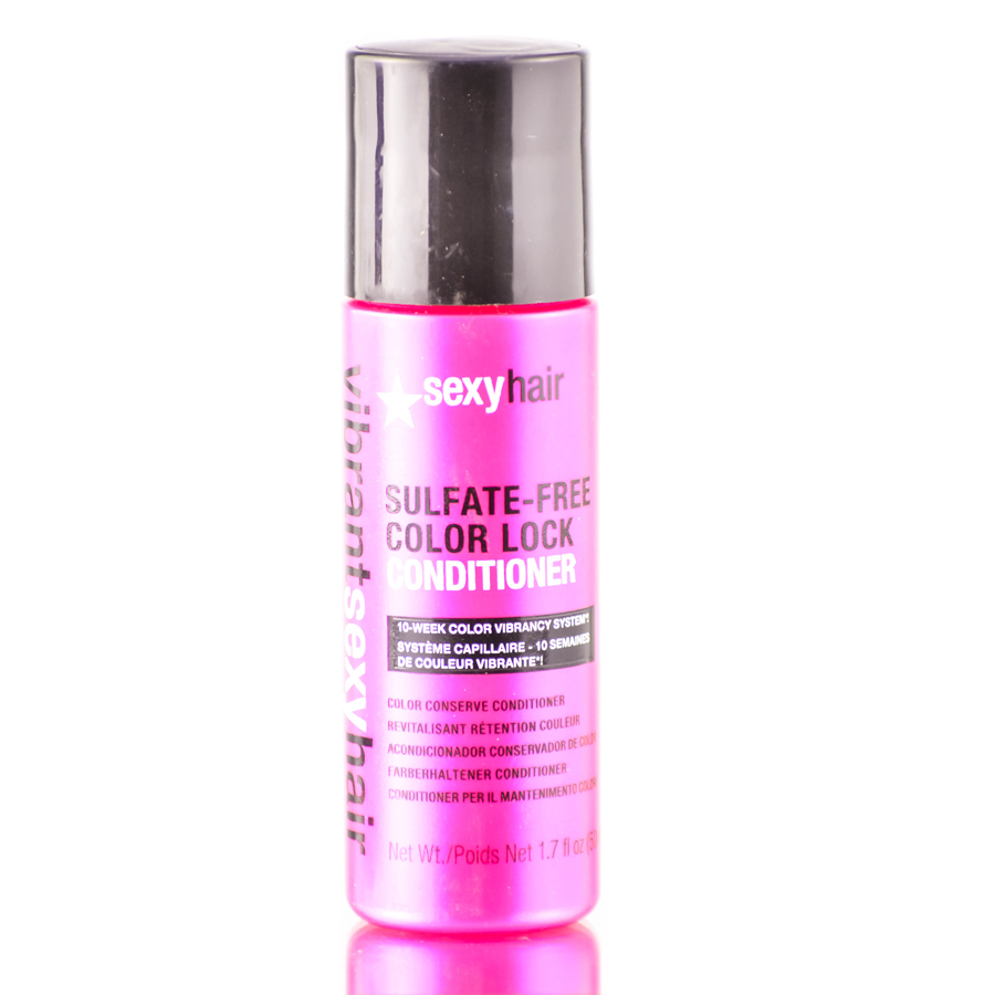 Sexy Hair Vibrant Rose & Almond Oil Sulfate - Free Color Lock Conditioner 646630015207