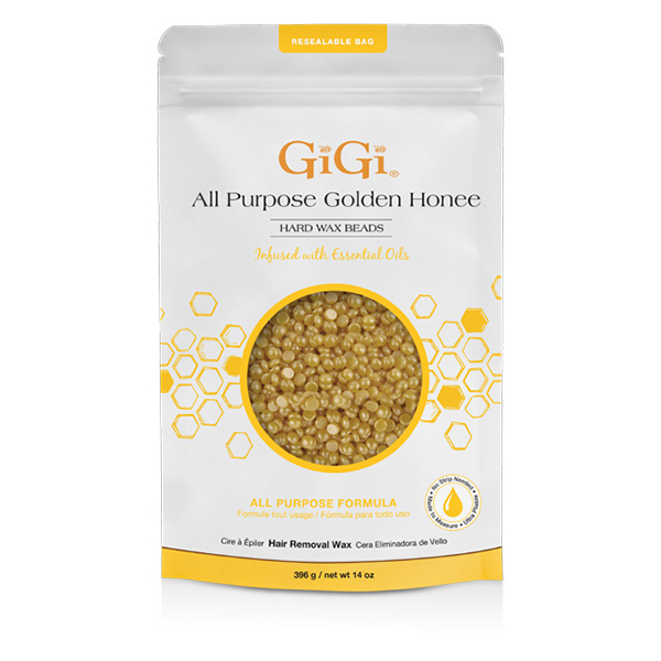 Gigi All Purpose Golden Honee Hard Wax Beads 073930679851