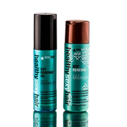 Healthy sexy hair soy renewal argan oil