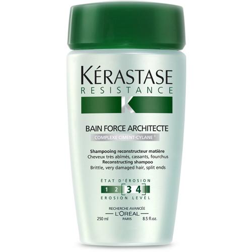 Kerastase resistance bain force architect shampoo for for Kerastase bain miroir shine revealing shampoo