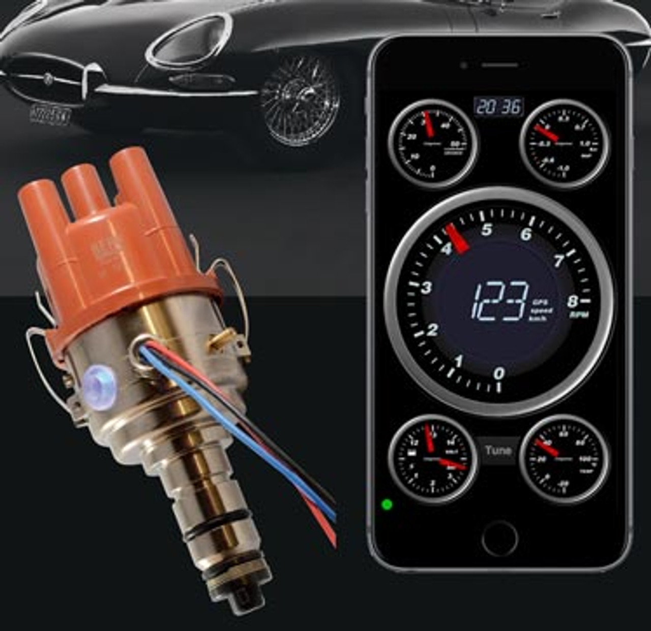123\TUNE+-6-R-V-M (for Mercedes-Benz) The wireless programmable 123\TUNE+-6-R-V-M is designed for the most classic 6 cylinder Mercedes engines.  For engines with Bosch D-jetronic fuel injection, order the non programmable 123\MERCEDES-6-R-V-IE.