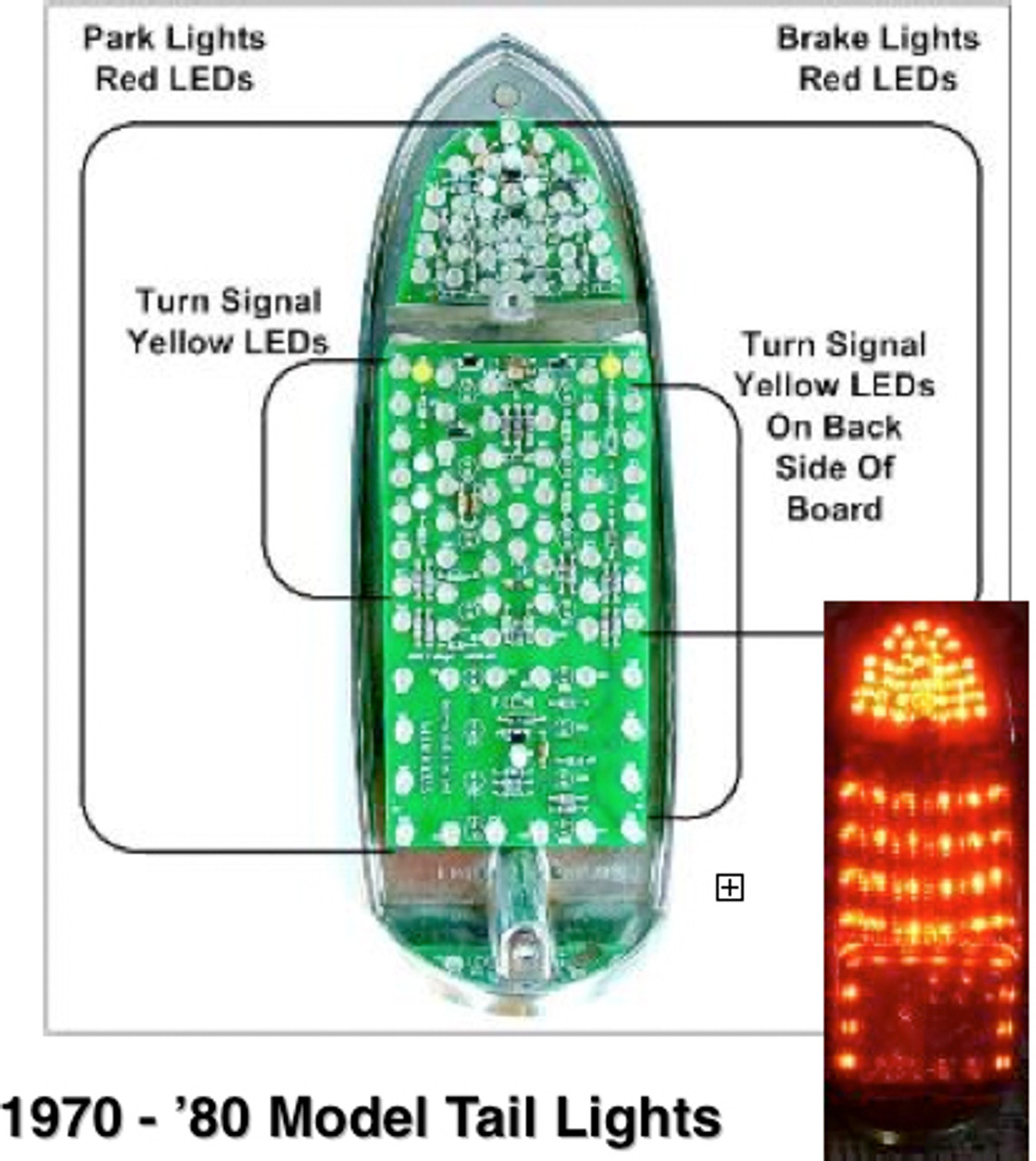 US Style 70-80 LED Tail Light Kit Does both tail lights 10 yr warranty