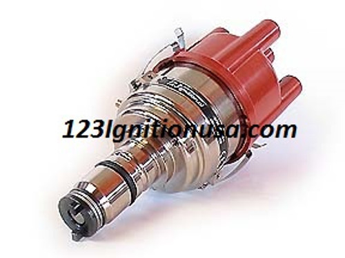 Original Switched model with 16 curves  for the replacement of most 4 cyl. CCW 'Lucas'-distributors. Fits MGA MGB MINI AUSTIN TRIUMPH etc. GB4-R-V