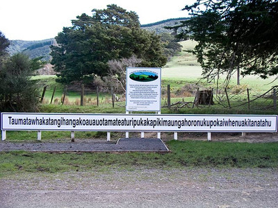 The Biggest Longest Place Name in New Zealand