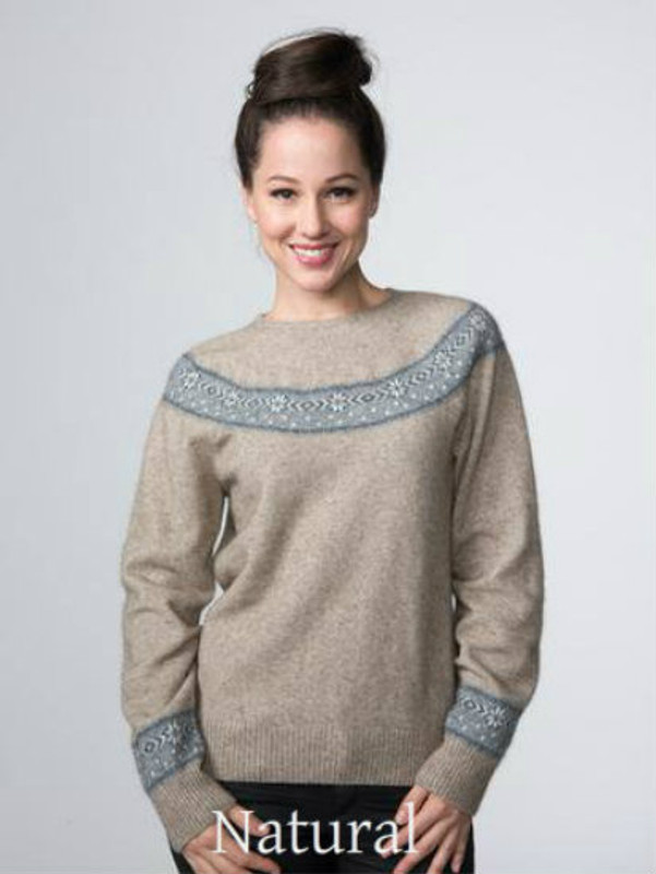Natural Possum Merino Wool Beaujolais Jumper by possumdown