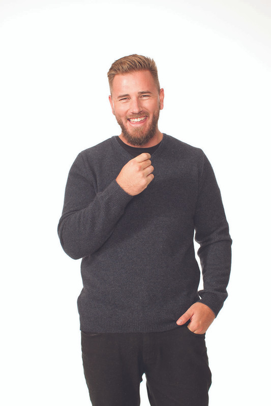 V Neck Sweater - Riverstone
