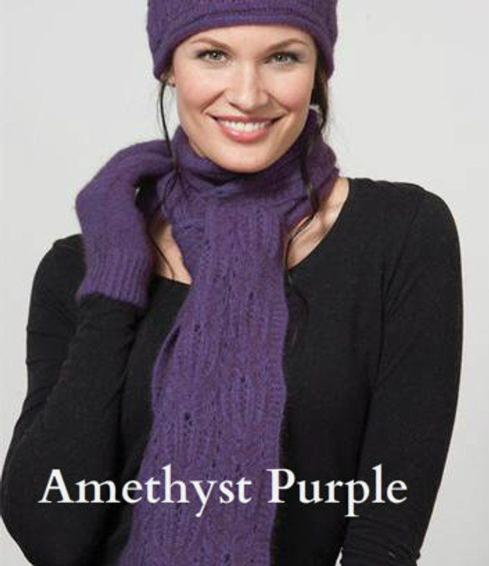 Amethyst purple Chunky Cable Scarf by possumdown