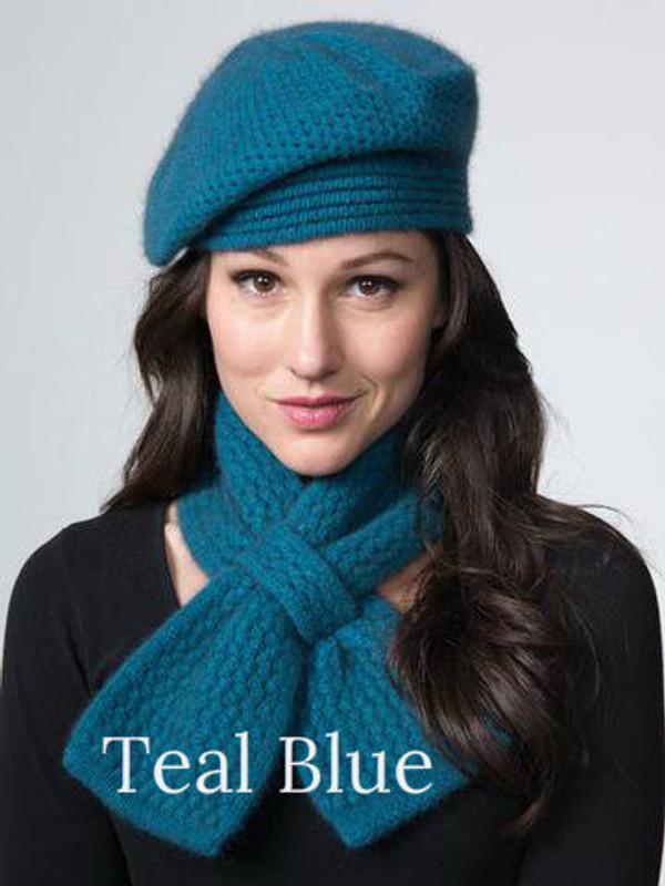 Teal Blue Beret by possumdown