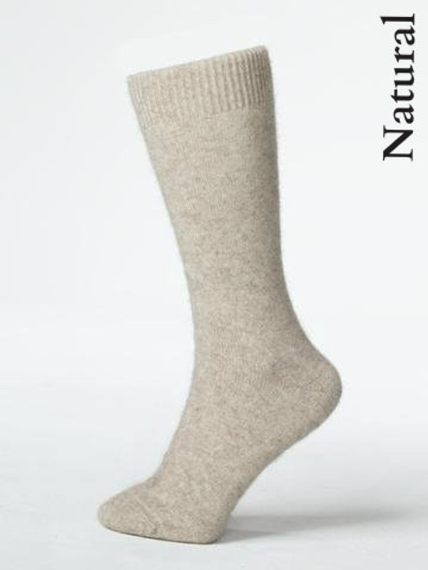 Lifestyle sock in Natural Beige.