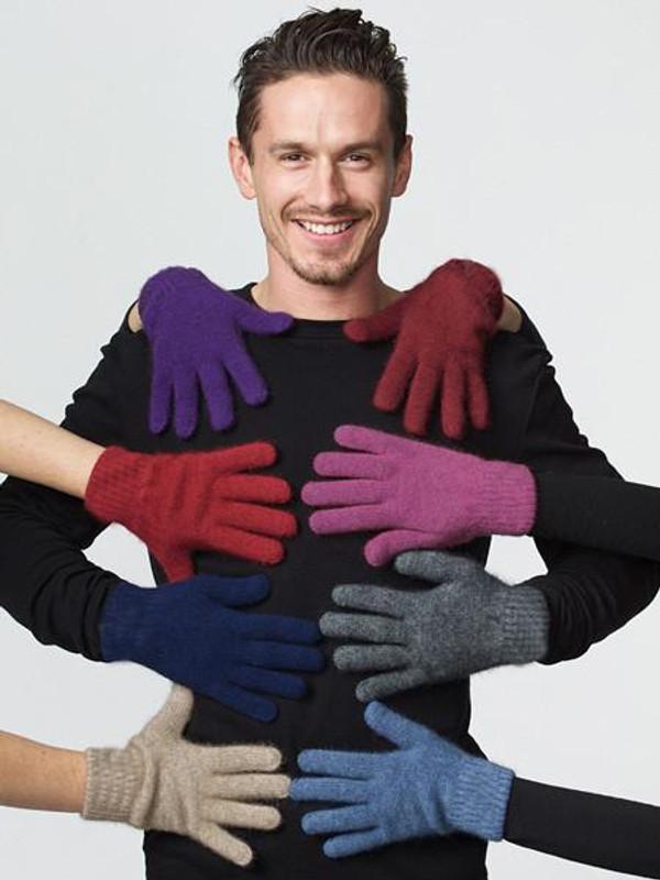 Classic Possum Merino Wool Glove by possumdown in a range of rainbow colours.