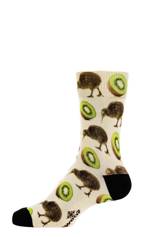 9601 Taste of Kiwi Printed merino sock Norsewear