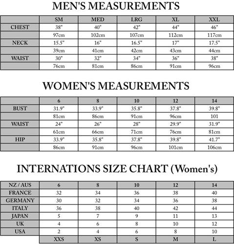 Print Size Guide Ͽ� Esp: NZ Natural Clothing