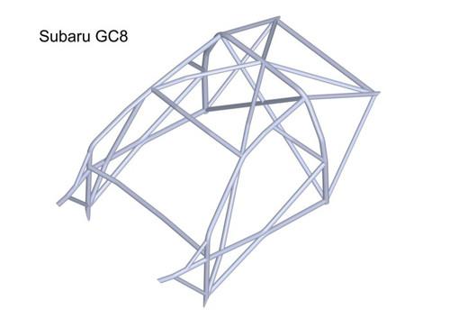 Custom Cages Subaru Impreza GC8 2 & 4dr - 2014 Spec  [T45]