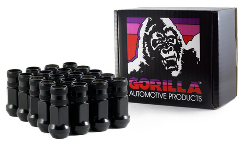 Gorilla Forged Steel Racing Lug Black Chrome Open End 12MM X 1.25