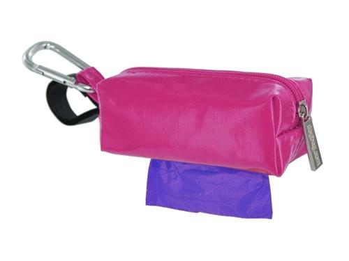 Pink Duffel Dog Waste Bag Holder